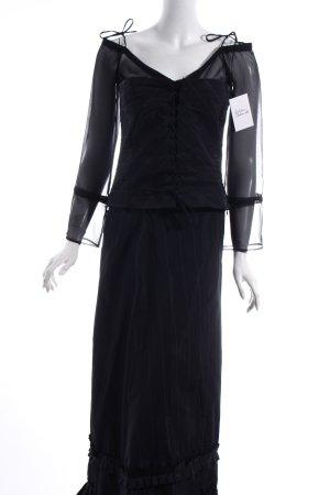 Mango Abendkleid schwarz-weiß Nadelstreifen extravaganter Stil