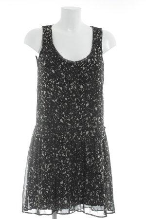 Mango Abendkleid schwarz-weiß Punktemuster Casual-Look