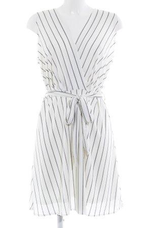 Mango Abendkleid weiß-schwarz Streifenmuster Elegant