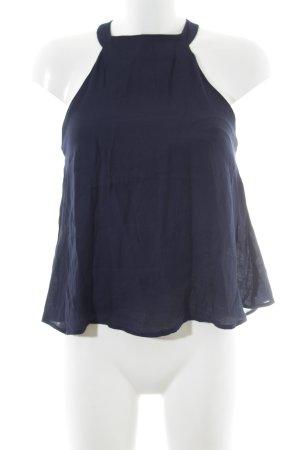 Mango ärmellose Bluse dunkelblau Casual-Look