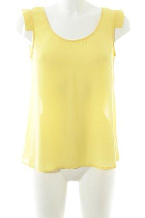 Mango ärmellose Bluse gelb Casual-Look