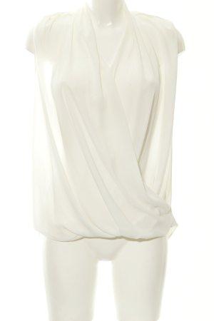 Mango ärmellose Bluse weiß Elegant