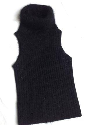 MANGO Angora Pullunder Pullover black metallic XS