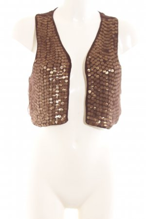 Mango Waistcoat brown-bronze-colored elegant
