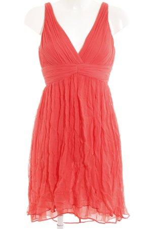 Mango Babydoll-jurk lichtrood romantische stijl