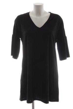 Mango Vestido babydoll negro elegante