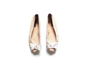 Mango Ballerinas gr. 41 40 creme nude schleife bow
