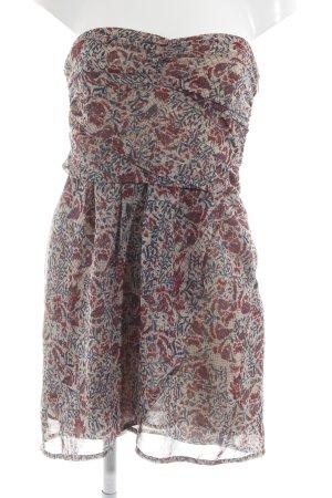 Mango Bandeau Dress flower pattern casual look