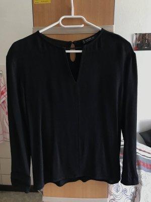 Mango Basic Bluse schwarz