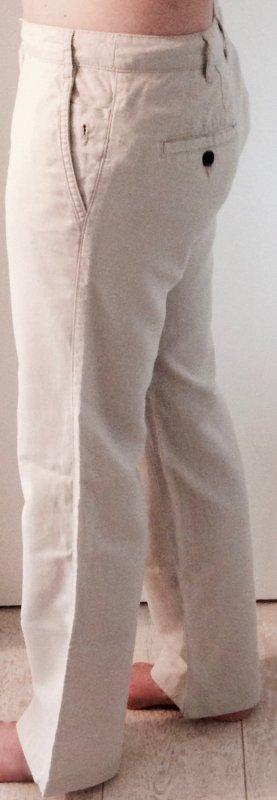 Mango Basic Hose in beige Gr. 36 (EUR) aus Leinen