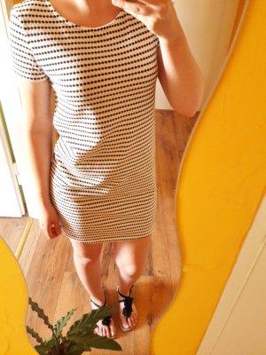 Mango Basic Shirt Kleid schwarz weiß gestreift Gr. S
