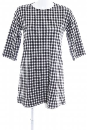 Mango Basics A-Linien Kleid schwarz-weiß Karomuster Casual-Look
