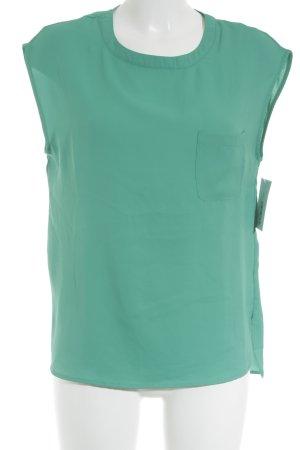 Mango Basics ärmellose Bluse grün schlichter Stil