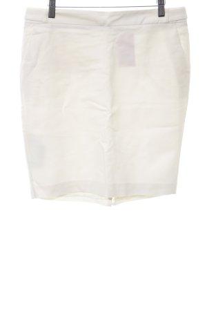Mango Basics Falda de tubo blanco look casual