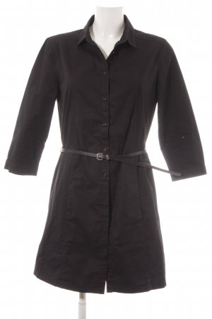 Mango Basics Blusenkleid schwarz Elegant