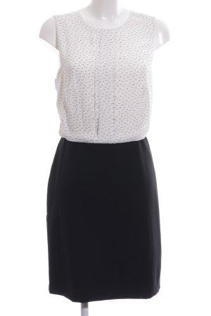 Mango Basics Blusenkleid schwarz-weiß Punktemuster Business-Look