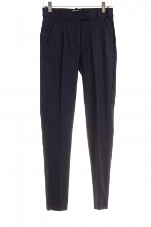 Mango Basics Bundfaltenhose dunkelblau Business-Look