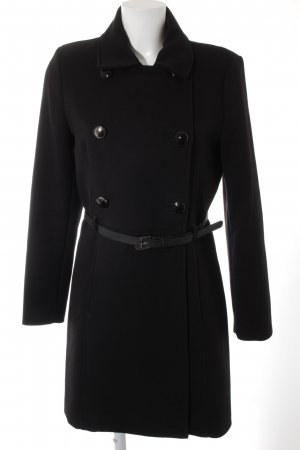 Mango Basics Heavy Pea Coat black elegant