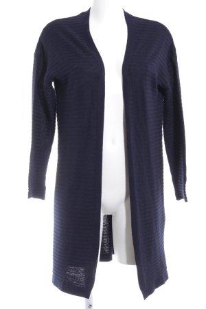 Mango Basics Cardigan dunkelblau Streifenmuster Casual-Look