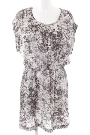 Mango Basics Chiffonkleid weiß-schwarz Farbtupfermuster schlichter Stil