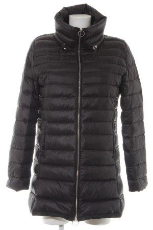 Mango Basics Down Coat black quilting pattern casual look