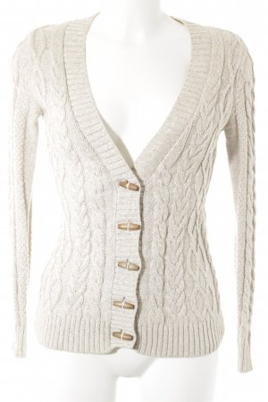 Mango Basics Coarse Knitted Jacket cream-beige flecked structure style