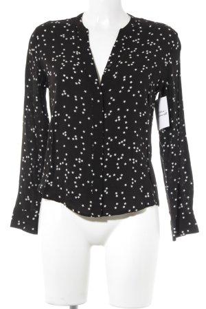 Mango Basics Hemd-Bluse schwarz-weiß Sternenmuster extravaganter Stil