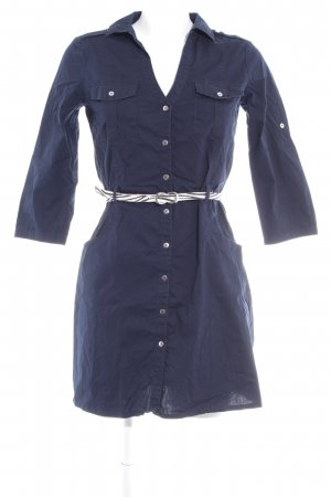 Mango Basics Shirtwaist dress dark blue casual look