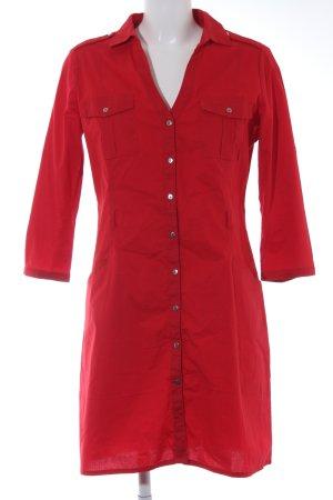 Mango Basics Hemdblusenkleid rot klassischer Stil