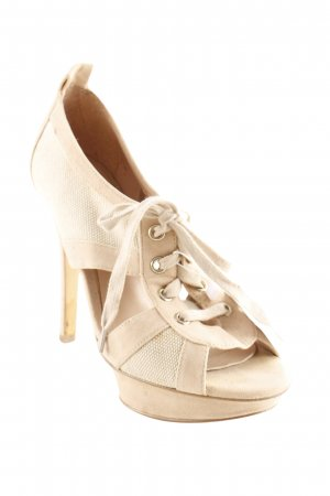 Mango Basics High Heels creme-beige Materialmix-Look