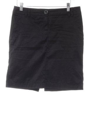 Mango Basics Falda de talle alto negro estilo «business»