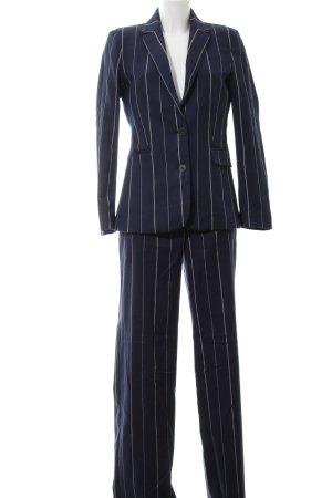 Mango Basics Hosenanzug dunkelblau-wollweiß Streifenmuster Business-Look