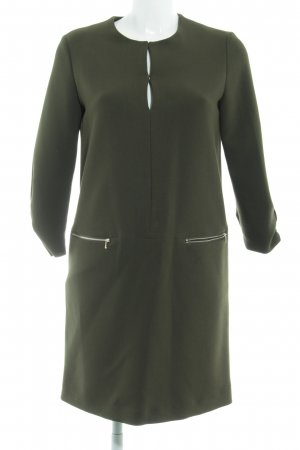 Mango Basics Jerseykleid dunkelgrün schlichter Stil