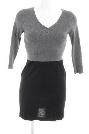 Mango Basics Jerseykleid schwarz-grau Casual-Look