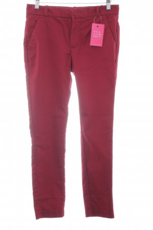 Mango Basics Pantalone peg-top rosso scuro stile classico