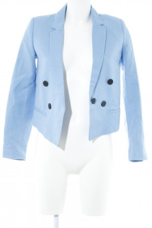 Mango Basics Kurz-Blazer himmelblau Business-Look