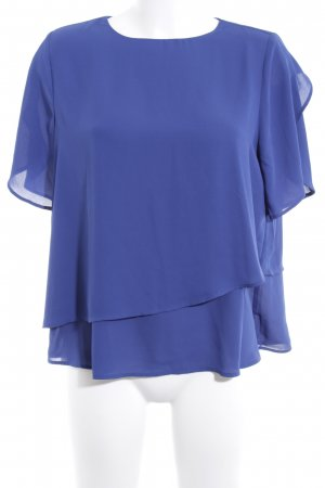 Mango Basics Kurzarm-Bluse blau Casual-Look