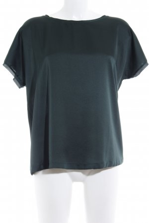 Mango Basics Kurzarm-Bluse dunkelgrün Casual-Look