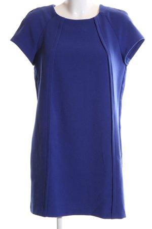 Mango Basics Kurzarmkleid blau Business-Look