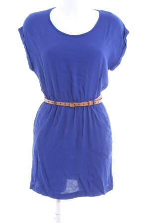 Mango Basics Kurzarmkleid blau Casual-Look