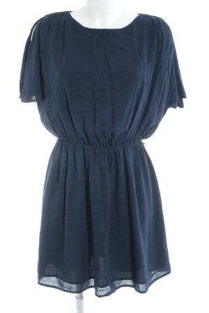 Mango Basics Kurzarmkleid blau Elegant