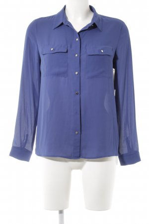 Mango Basics Langarm-Bluse blau Casual-Look