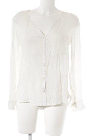 Mango Basics Langarm-Bluse wollweiß Elegant