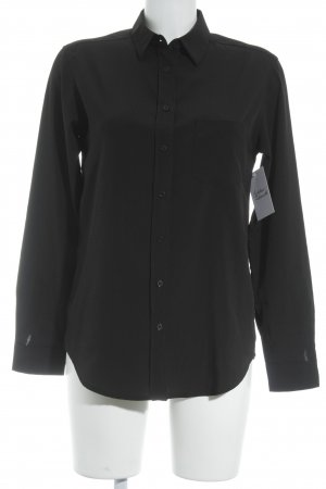 Mango Basics Langarmhemd schwarz Business-Look