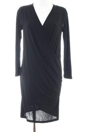 Mango Basics Langarmkleid schwarz Elegant