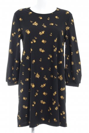 Mango Basics Longsleeve Dress black flower pattern casual look