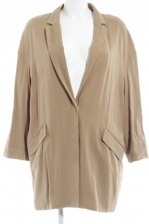 Mango Basics Long-Blazer camel Street-Fashion-Look
