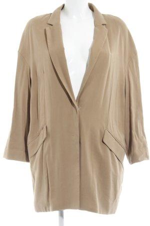 Mango Basics Long-Blazer camel Street-Fashion-Look