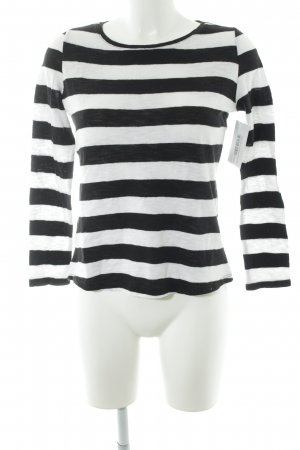 Mango Basics Longsleeve schwarz-weiß Streifenmuster Casual-Look