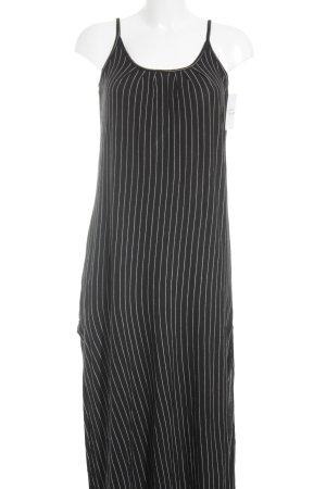 Mango Basics Maxikleid schwarz-weiß Streifenmuster minimalistischer Stil